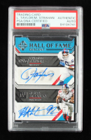 Lawrence Taylor / Michael Strahan 2019 Panini Majestic Hall of Fame Descent Dual Signatures #6 #5/5 (PSA Encapsulated) at PristineAuction.com