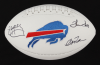 Andre Reed, Thurman Thomas & Jim Kelly Signed Bills Logo Football (JSA COA) (See Description) at PristineAuction.com