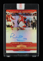 Patrick Mahomes 2020 Panini Plates and Patches Leaps and Bounds Autographs #7 EXCH (Panini Encapsulated) at PristineAuction.com