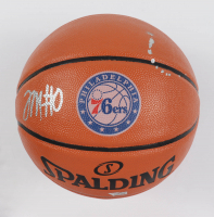 Tyrese Maxey Signed 76ers Logo NBA Basketball (Fanatics Hologram) (See Description) at PristineAuction.com