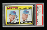 Bill Denehy / Tom Seaver 1967 Topps #581 Rookie Stars RC (PSA 8) (OC) at PristineAuction.com