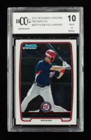 Bryce Harper 2012 Bowman Chrome Prospects #BCP10 (BCCG 10) at PristineAuction.com