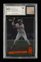 Derek Jeter 1994 Classic Cream of the Crop #C17 with Game-Used Batting Glove Piece (BCCG 10) at PristineAuction.com