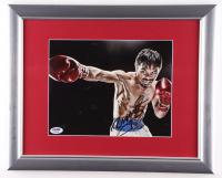 Manny Pacquiao Signed 13x16 Custom Framed Photo Display (PSA COA) at PristineAuction.com
