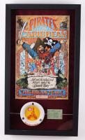 "Disneyland ""Pirates of the Caribbean"" 15x26 Custom Framed Print Display with Ticket  & Walt Disney World Ashtray (See Description) at PristineAuction.com"