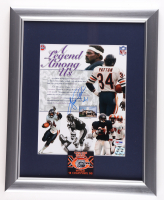 Walter Payton Signed Bears 13x16 Custom Framed Photo Display with World Champions Patch (PSA LOA) (See Description) at PristineAuction.com