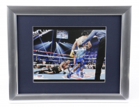 """Manny Pacquiao Signed 13x16 Custom Framed Photo Display Inscribed """"Packman"""" (PSA COA) (See Description) at PristineAuction.com"""