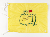 """Gary Player Signed 2008 Masters Tournament Pin Flag Inscribed """"61 74 78"""" (JSA COA) at PristineAuction.com"""