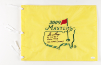 """Gary Player Signed 2009 Masters Tournament Pin Flag Inscribed """"61 74 78"""", """"Final Time"""", & """"52 Times (Record)"""" (JSA COA) at PristineAuction.com"""