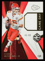 Patrick Mahomes II 2020 Limited Game Day Swatches #10 #45/99 at PristineAuction.com