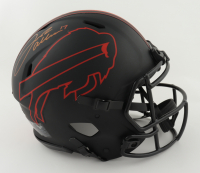 Josh Allen Signed Bills Full-Size Authentic On-Field Eclipse Alternate Speed Helmet (Beckett COA & Denver Autographs COA) at PristineAuction.com