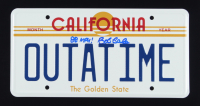 "Bob Gale Signed ""Back to the Future"" License Plate Inscribed ""88 MPH!"" (AutographCOA COA) at PristineAuction.com"