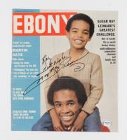 "Sugar Ray Leonard Signed Ebony Magazine Cover Inscribed ""Best Wishes"" (PSA COA) (See Description) at PristineAuction.com"