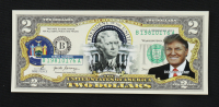 Donald Trump Genuine Legal Tender U.S. $2 Two Dollar Commemorative Bank Note with Display Folder at PristineAuction.com