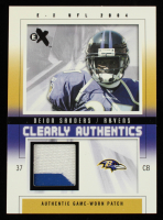 Deion Sanders 2004 E-X Clearly Authentics Patch Silver #CADS #30/65 at PristineAuction.com