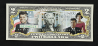 John F. Kennedy Genuine Legal Tender U.S. $2 Two Dollar Bill Commemorative Bank Note with Display Folder at PristineAuction.com