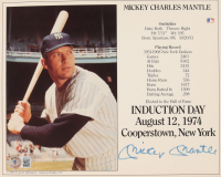 """Mickey Mantle Signed """"HOF Induction"""" 8x10 Photo (Beckett LOA) at PristineAuction.com"""