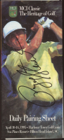"""Payne Stewart Signed MCI Classic """"The Heritage of Golf"""" Daily Pairing Sheet (Beckett LOA) at PristineAuction.com"""