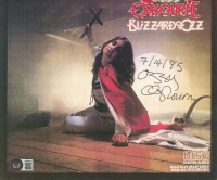 """Ozzy Osbourne Signed """"Blizzard of Ozz"""" 9.5x9.5 Matted Photo Inscribed """"7/14/95""""  (Beckett LOA) at PristineAuction.com"""