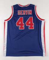"""George Gervin Signed Jersey Inscribed """"Iceman"""" (Schwartz Sports COA) at PristineAuction.com"""