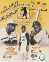 Roberto Clemente 30th Anniversary 8x10 Photo Signed by (4) with Vera Clemente, Roberto Clemente Jr., Luis Roberto Clemente (Beckett LOA) at PristineAuction.com