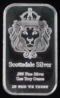 1 Oz .999 Fine Silver Scottsdale Silver Bullion Bar at PristineAuction.com