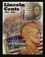 1959-1982 Lincoln Penny Coin Collection Book with (52) Coins & Display Folder at PristineAuction.com
