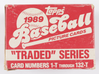 1989 Topps Traded Series Baseball Card Box with (132) Cards (See Description) at PristineAuction.com