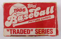 1989 Topps Traded Series Baseball Card Box with (132) Cards with #41T Ken Griffey Sr., #11T Barry Bonds, #24T Will Clark, #20T Jose Canseco, #50T Bo Jackson (See Description) at PristineAuction.com