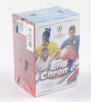 2020-21 Topps UEFA Champions League Chrome Soccer Blaster Box with (7) Packs at PristineAuction.com