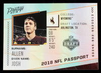 Josh Allen 2018 Prestige NFL Passport #5 at PristineAuction.com