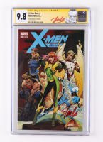"""Stan Lee Signed 2017 """"X-Men: Blue"""" Issue #1 Marvel Comic Book (CGC 9.8) at PristineAuction.com"""