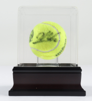 James Blake Signed Wilson U .S. Open Tennis Ball with Display Case (PSA LOA) at PristineAuction.com