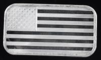1 Oz .999 Fine Silver American Flag Bullion Bar at PristineAuction.com