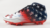 Jerry Rice Signed Under Armour American Flag Football Cleat (Beckett COA) at PristineAuction.com