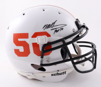 """Mike Singletary Signed Youth Full-Size Authentic On-Field Helmet Inscribed """"HOF 98"""" (Beckett COA) at PristineAuction.com"""