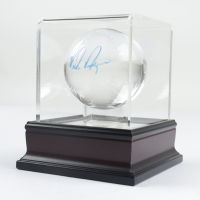 Nolan Ryan Signed Glass Baseball with Display Case (PSA COA) at PristineAuction.com