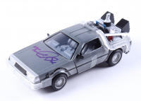 """Michael J. Fox Signed """"Back to the Future II"""" DeLorian Time Machine 1:24 Scale Die-Cast Car (Beckett Hologram) at PristineAuction.com"""
