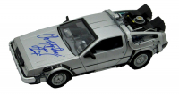 """Christopher Lloyd Signed """"Back to the Future"""" DeLorian Time Machine 1:24 Scale Die-Cast Car (JSA COA) at PristineAuction.com"""