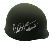 "Charlie Sheen Signed ""Platoon"" Vietnam Army Helmet Inscribed ""Chris"" (PSA COA) at PristineAuction.com"