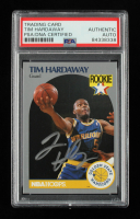 Tim Hardaway Signed 1990-91 Hoops #113 RC (PSA Encapsulated) at PristineAuction.com