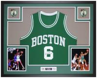 Bill Russell Signed 35x43 Custom Framed Jersey Display (JSA COA) at PristineAuction.com