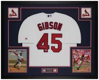Bob Gibson Signed Cardinals 35x43 Custom Framed Jersey Display (Beckett COA) at PristineAuction.com