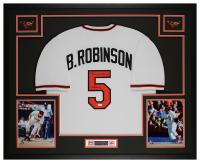 "Brooks Robinson Signed 35x43 Custom Framed Jersey Display Inscribed ""18 All-Star"" (JSA COA) at PristineAuction.com"