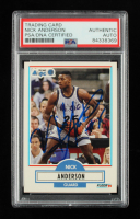 Nick Anderson Signed 1990-91 Fleer #132 RC (PSA Encapsulated) at PristineAuction.com