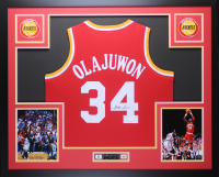 Hakeem Olajuwon Signed 35x43 Custom Framed Jersey Display (JSA COA & Fitmeran Hologram) at PristineAuction.com