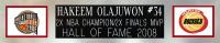 Hakeem Olajuwon Signed 35x43 Custom Framed Jersey Display (JSA COA) at PristineAuction.com