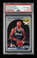 Nick Anderson Signed 1990-91 Hoops #214 RC (PSA Encapsulated) at PristineAuction.com