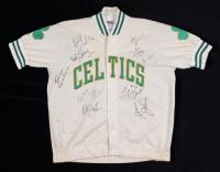 Celtics Greats Jacket Signed by (12) with Bill Walton, Bob Cousy, Tom Heinsohn, Dave Cowens, Cedric Maxwell, Dennis Johnson (Beckett LOA) at PristineAuction.com