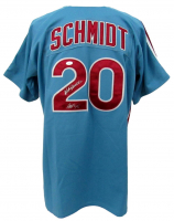 "Mike Schmidt Signed Phillies Jersey Inscribed ""HOF 95"" (JSA COA) at PristineAuction.com"